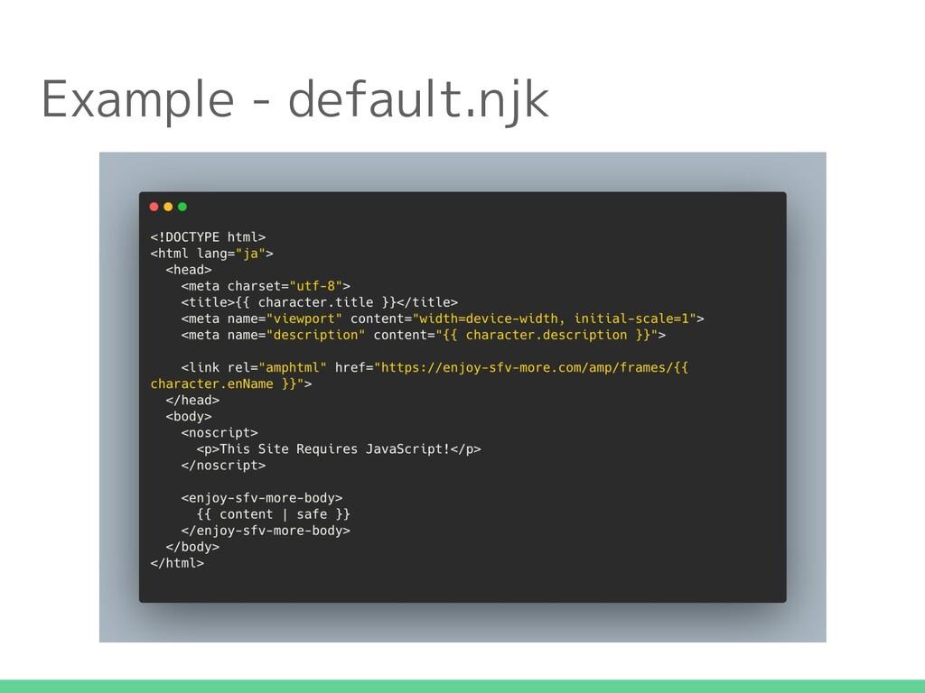 Example - default.njk
