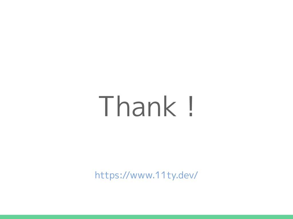 Thank ! https://www.11ty.dev/