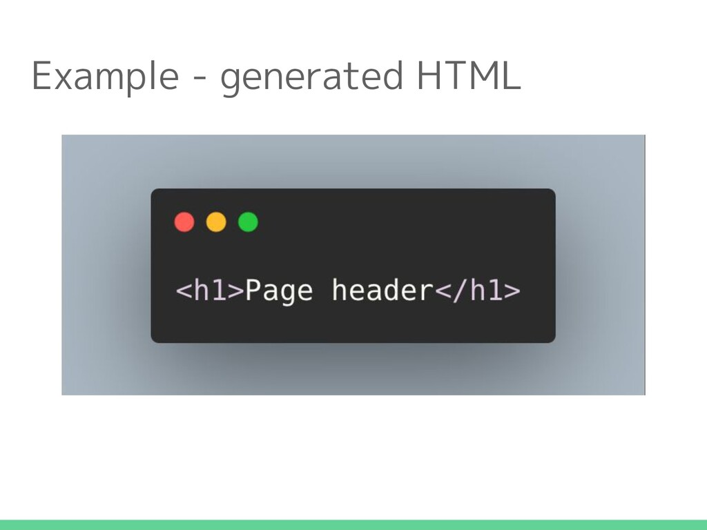 Example - generated HTML