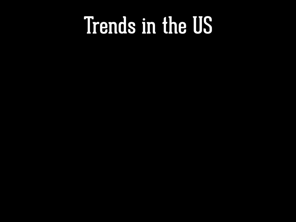 Trends in the US