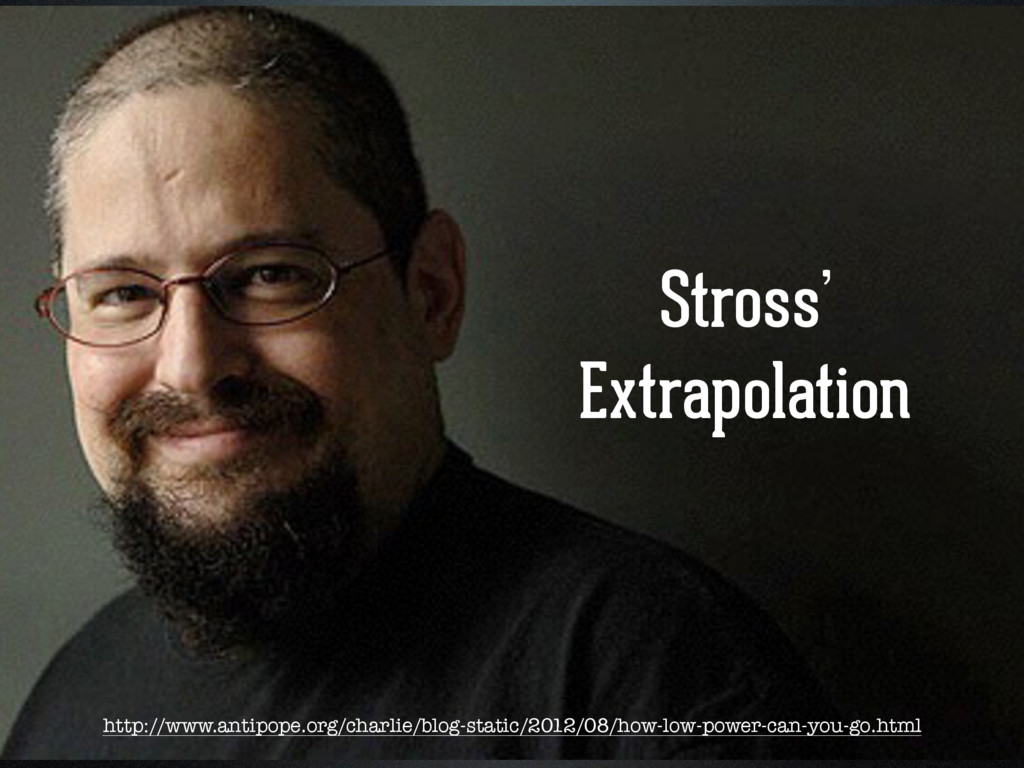 Stross'  Extrapolation http://www.antipope.org...