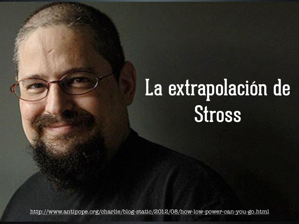 La extrapolación de Stross http://www.antipope....