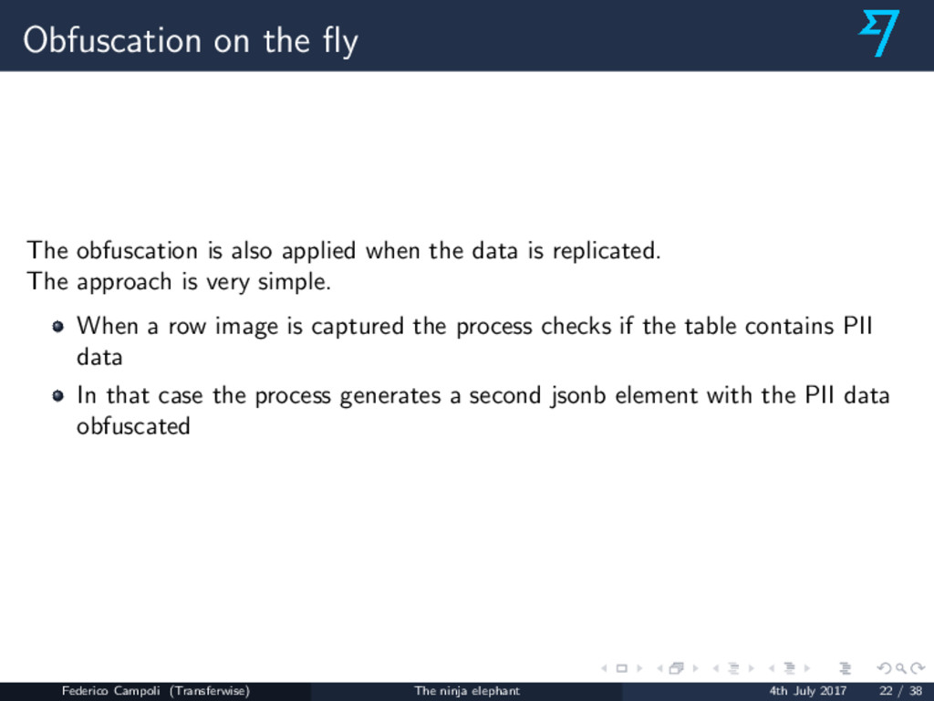 Obfuscation on the fly The obfuscation is also a...