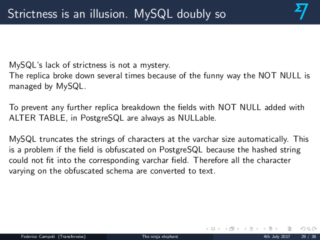 Strictness is an illusion. MySQL doubly so MySQ...