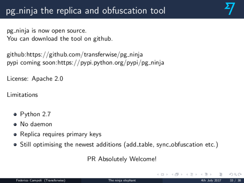 pg ninja the replica and obfuscation tool pg ni...