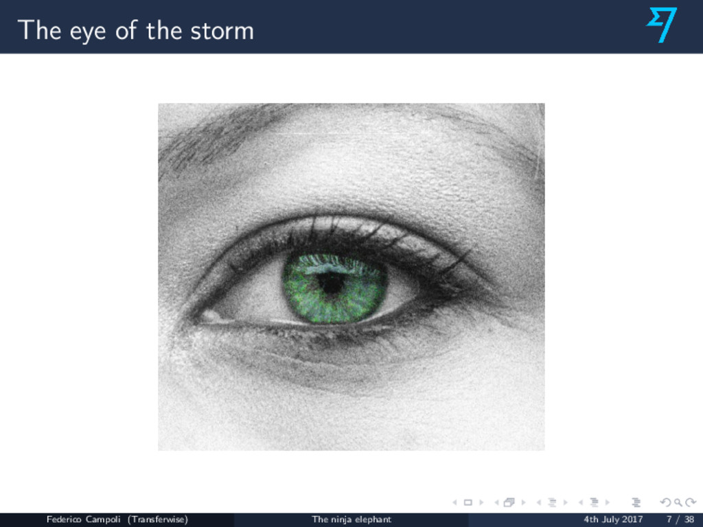 The eye of the storm Federico Campoli (Transfer...