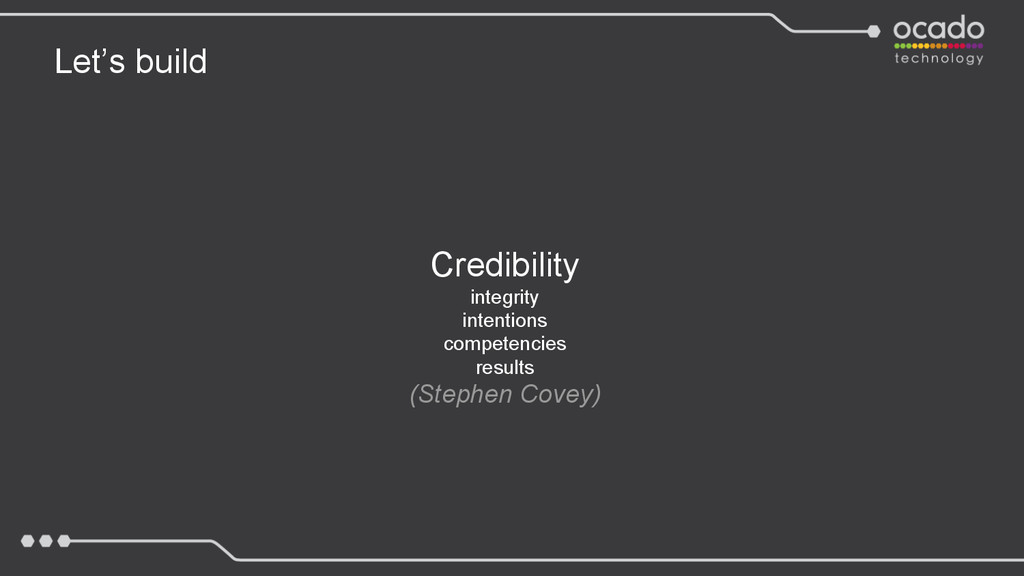 Let's build Credibility integrity intentions co...