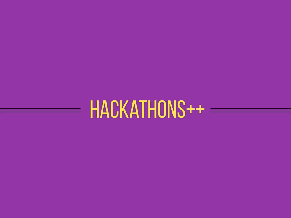 hackathons++