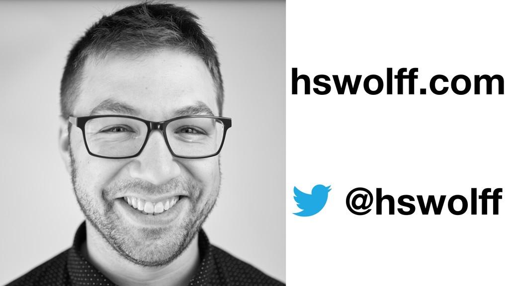 hswolff.com @hswolff