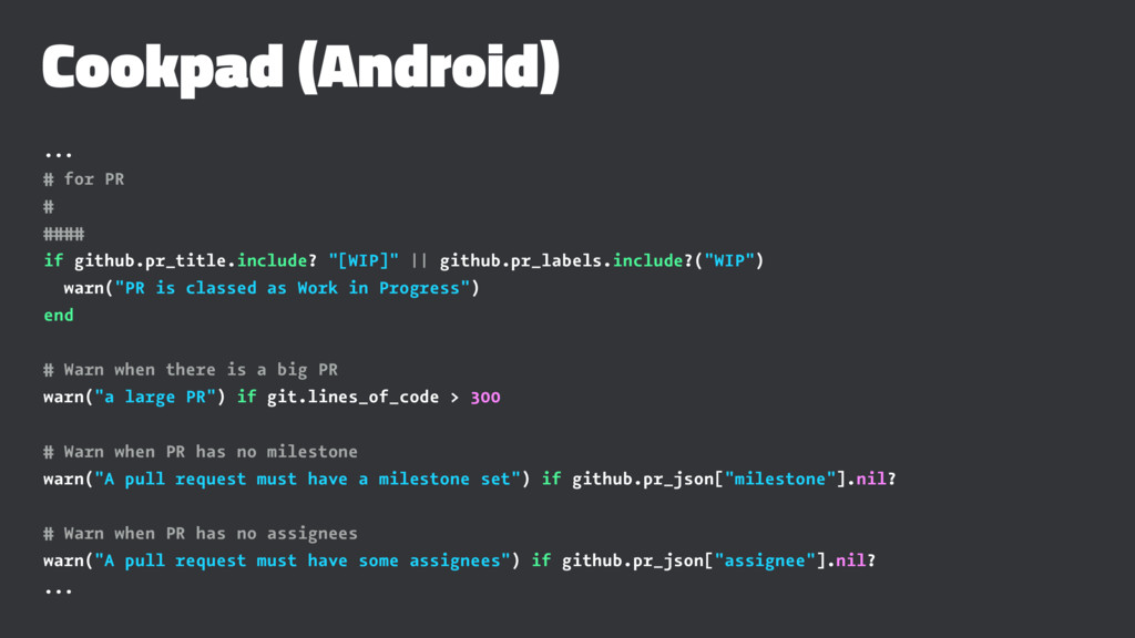 Cookpad (Android) ... # for PR # #### if github...