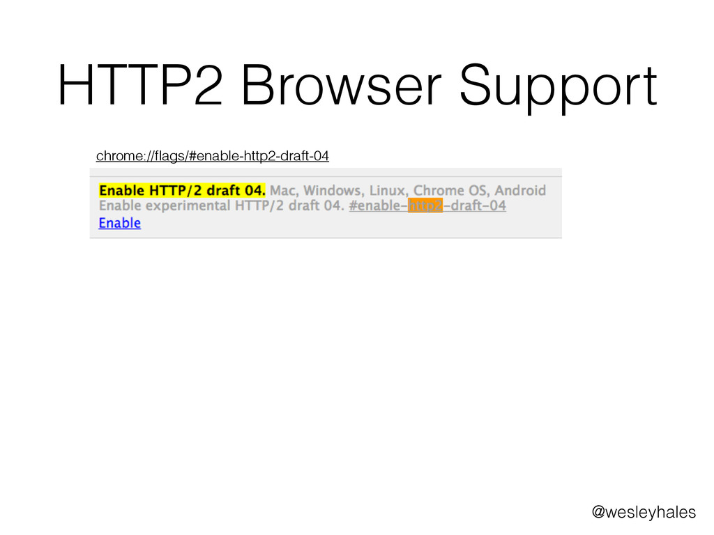 chrome://flags/#enable-http2-draft-04 HTTP2 Brow...