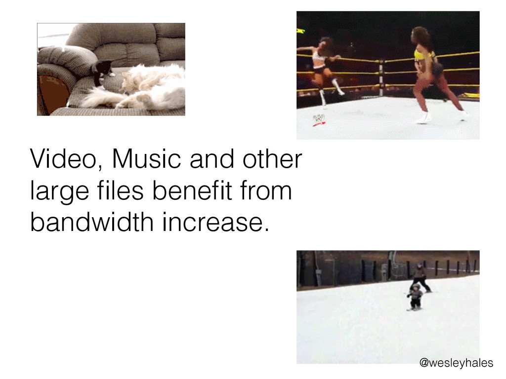 Video, Music and other large files benefit from b...