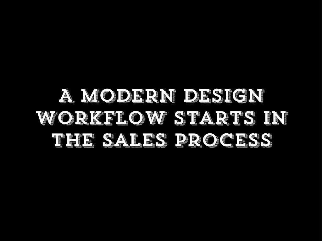 A modern design workflow starts in the sales pr...