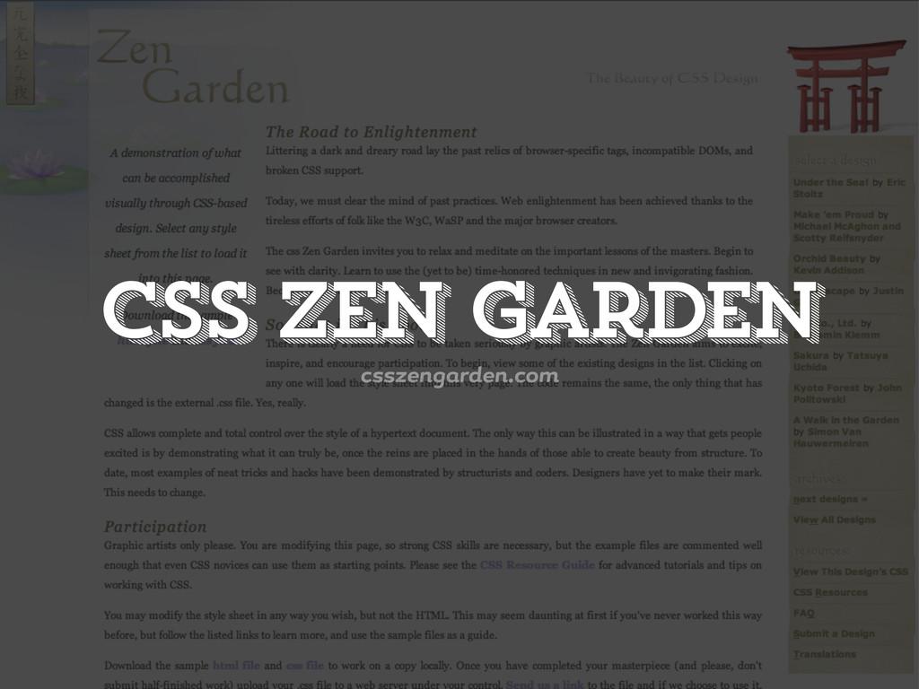 csszen rden.com CSS Zen Garden