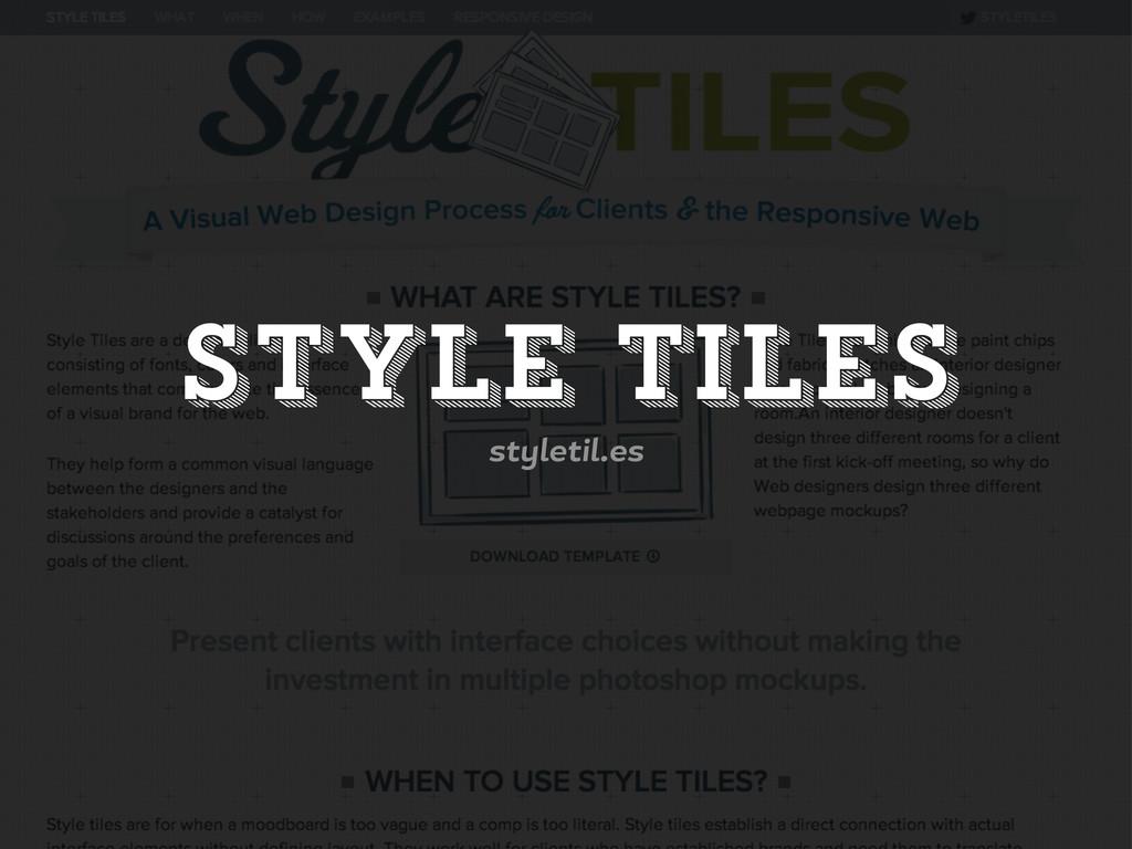 Style Tiles st letil.es