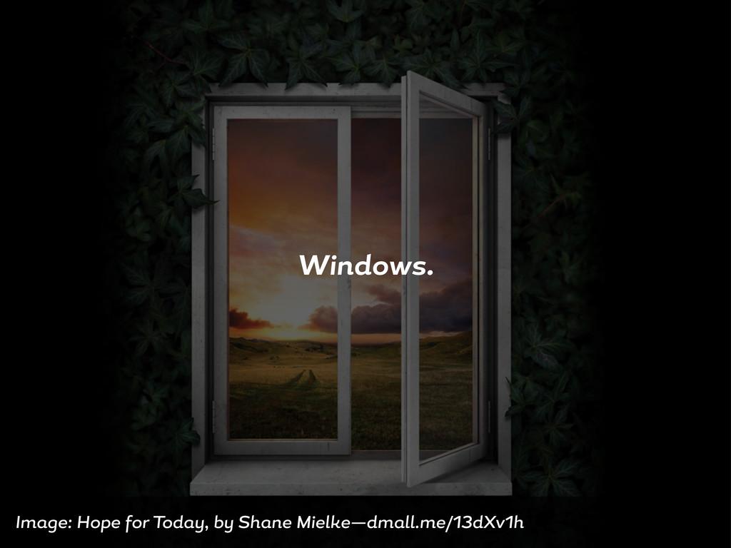 Windows. Im e: Hope or Tod , b Sh ne Mielke—dm ...