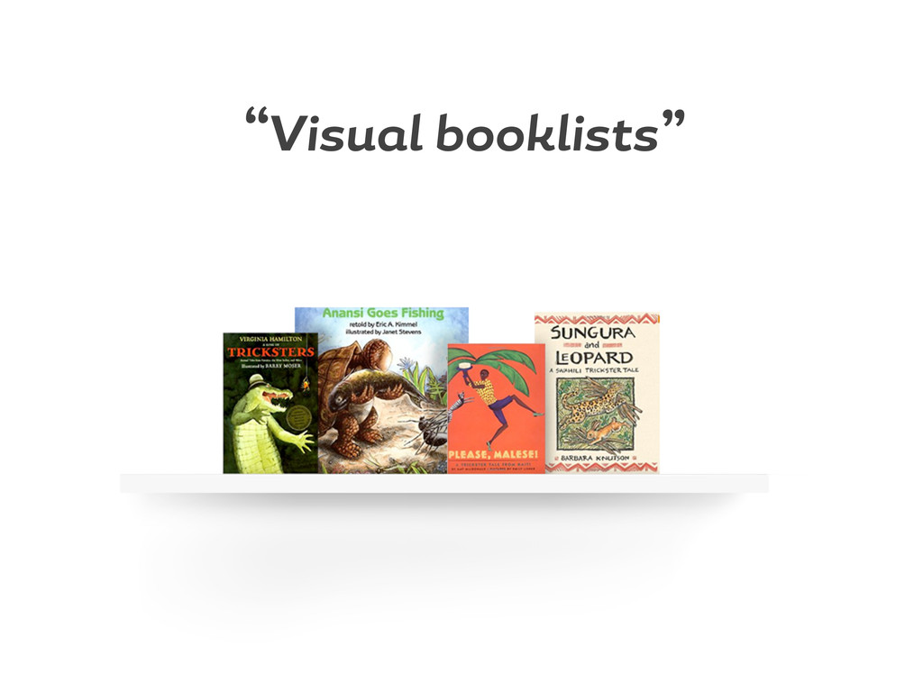 """Visu l booklists"""