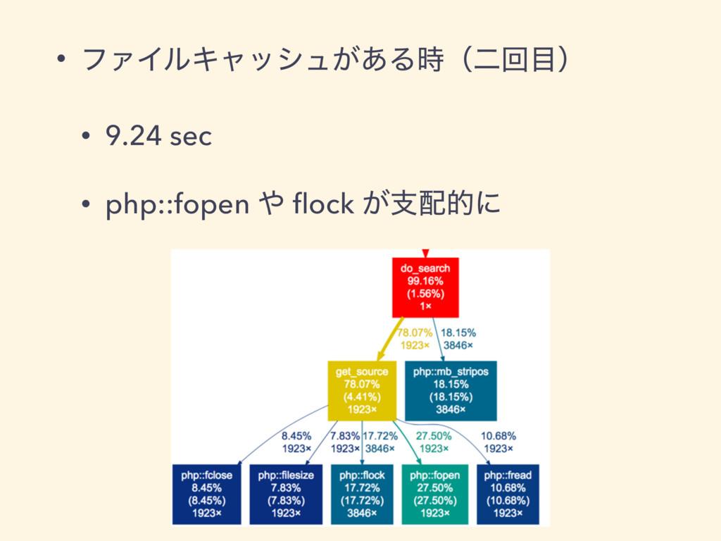 • ϑΝΠϧΩϟογϡ͕͋Δʢೋճʣ • 9.24 sec • php::fopen  ...