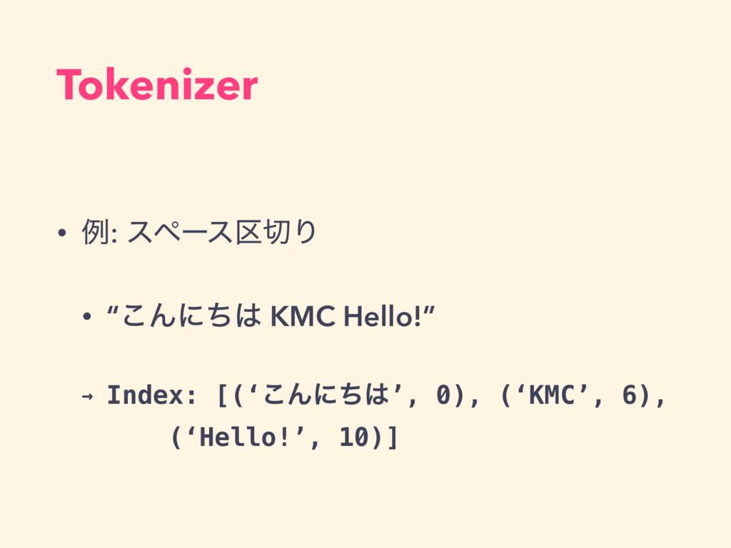 """• ྫ: εϖʔε۠Γ • """"͜Μʹͪ KMC Hello!"""" → Index: [('͜..."""