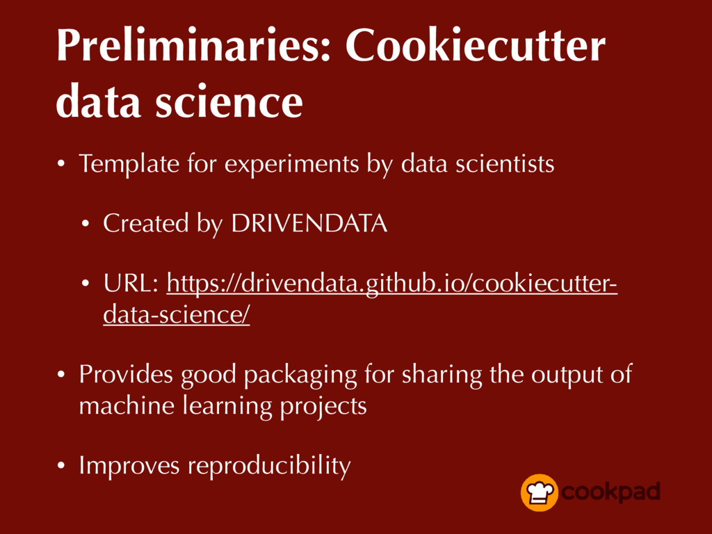 Preliminaries: Cookiecutter data science • Temp...