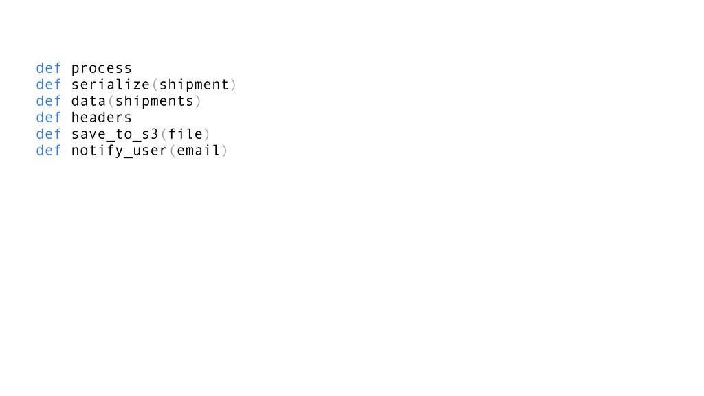 def process def serialize(shipment) def data(sh...