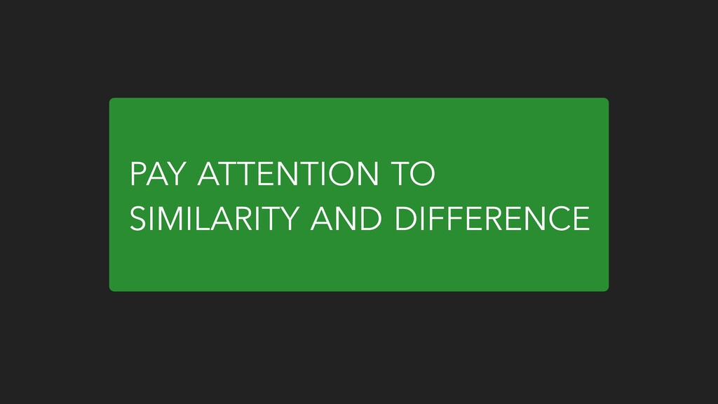 PAY ATTENTION TO SIMILARITY AND DIFFERENCE
