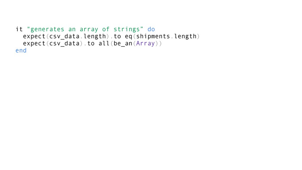 """it """"generates an array of strings"""" do expect(cs..."""