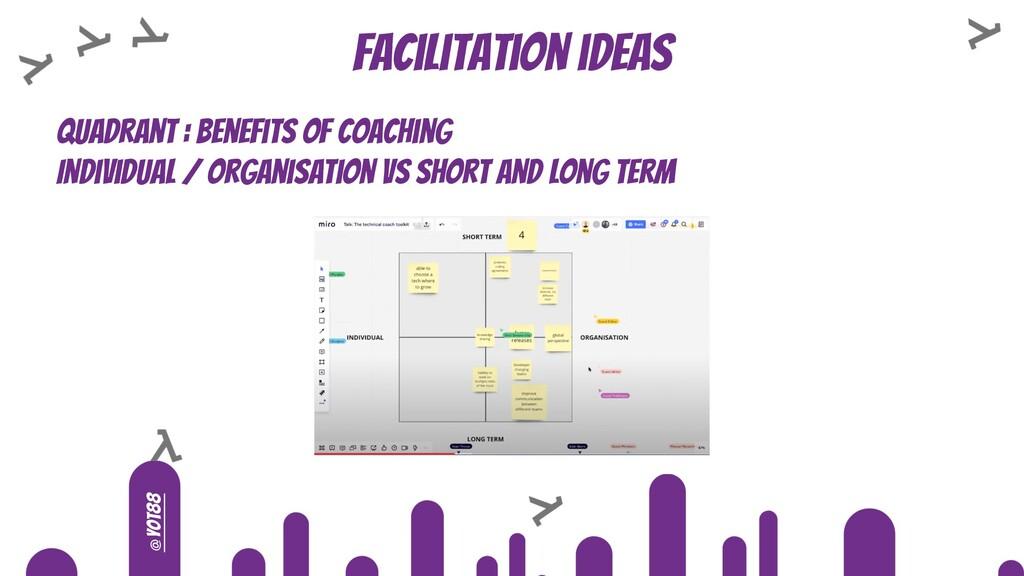 @yot88 Facilitation ideas Quadrant : benefits o...