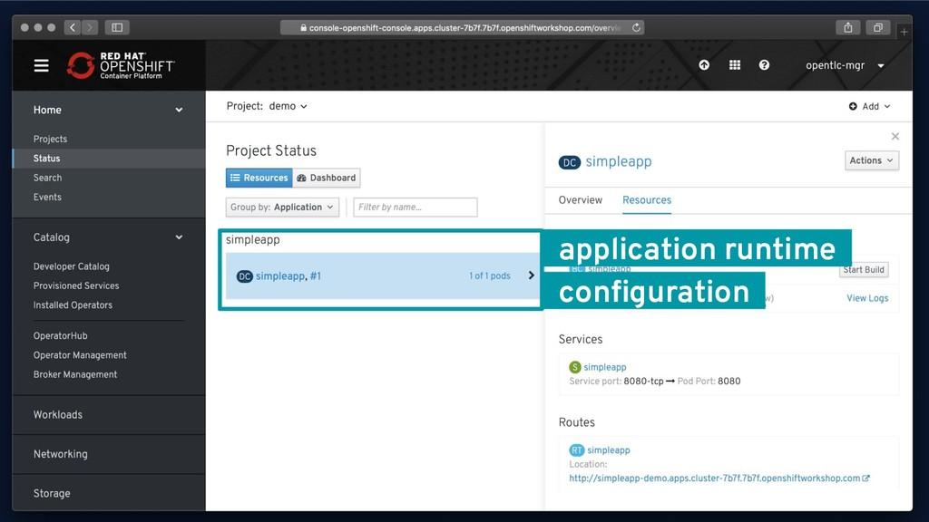 @KeithResar _application runtime_ _configuration_