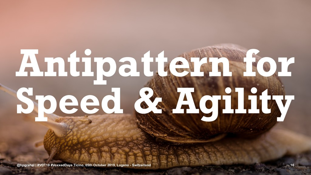 Antipattern for Speed & Agility @hpgrahsl | #VD...