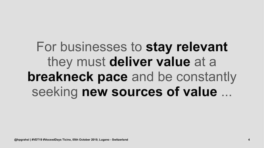 For businesses to stay relevant they must deliv...
