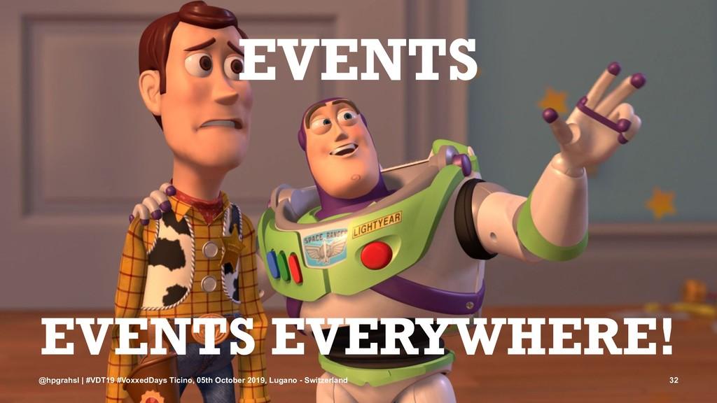 EVENTS EVENTS EVERYWHERE! @hpgrahsl | #VDT19 #V...