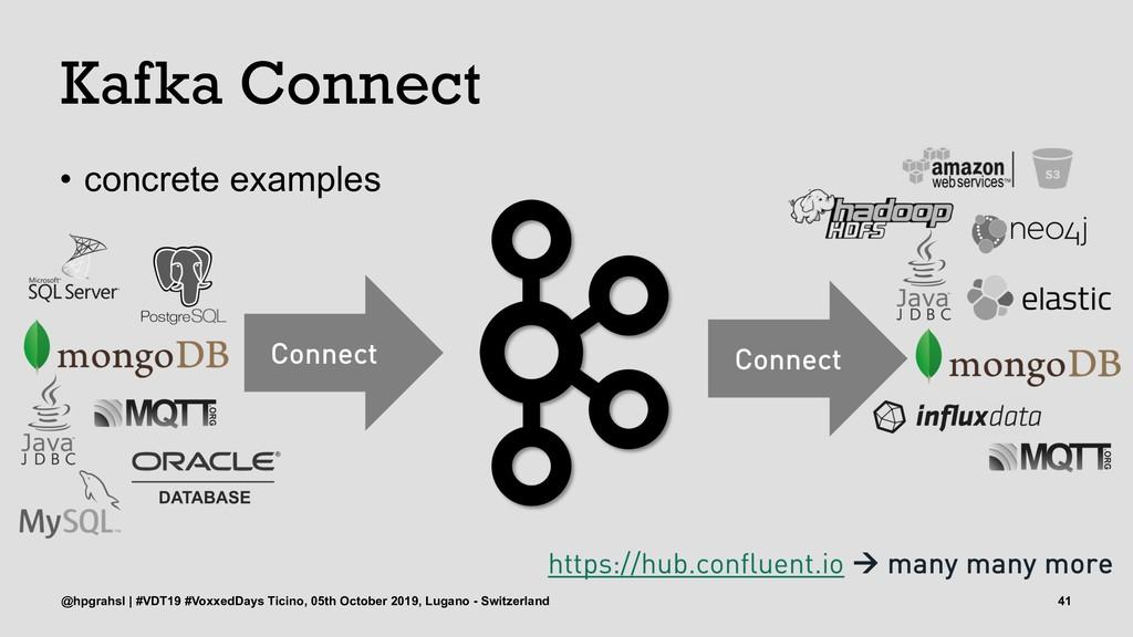 Kafka Connect • concrete examples @hpgrahsl | #...