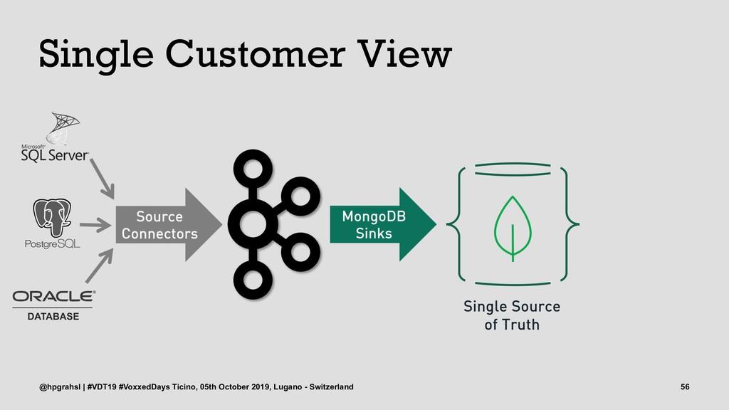 Single Customer View @hpgrahsl | #VDT19 #Voxxed...