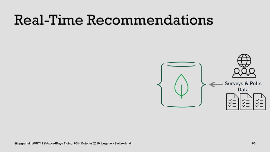 Real-Time Recommendations @hpgrahsl | #VDT19 #V...