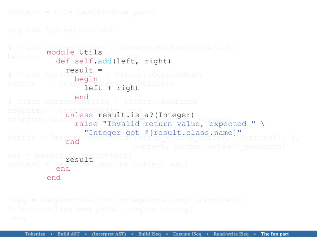 module Utils def self.add(left, right) result =...