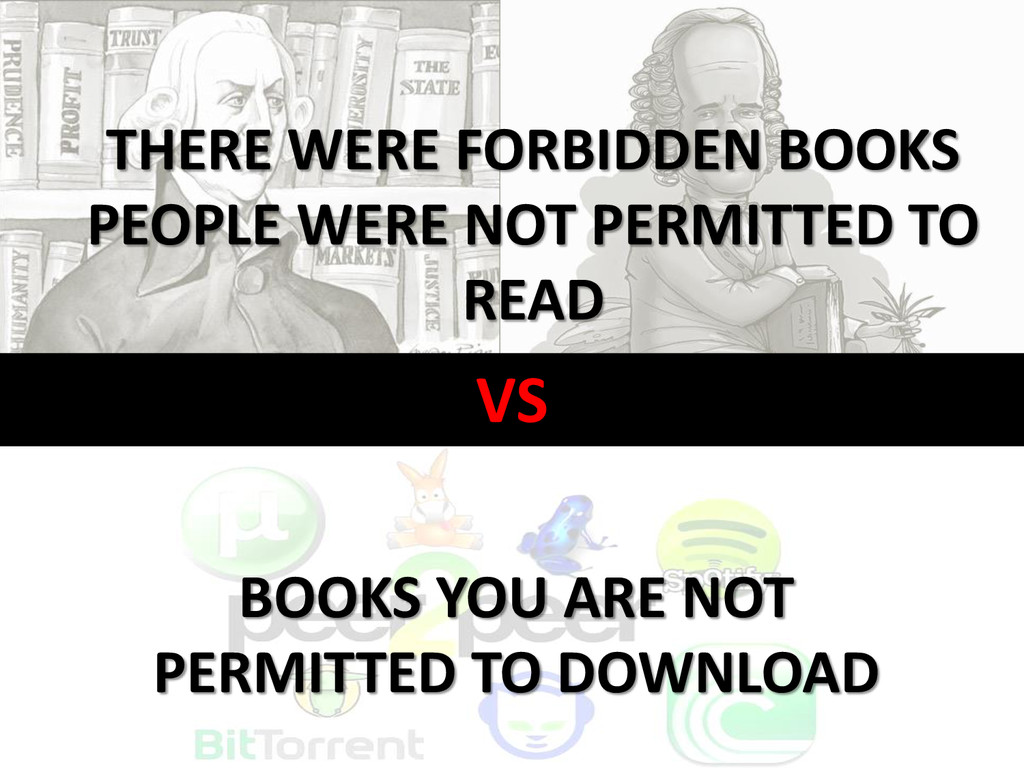 VS THERE WERE FORBIDDEN BOOKS PEOPLE WERE NOT P...