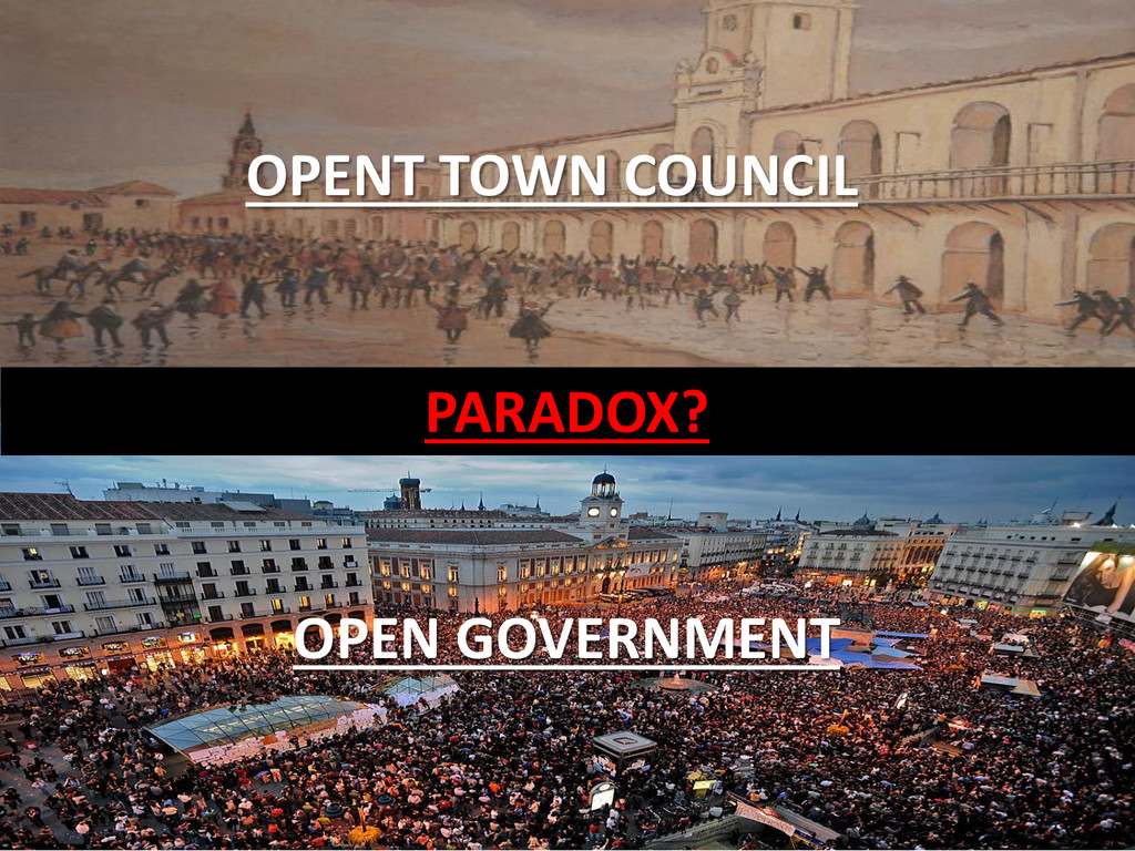 PARADOX? OPEN GOVERNMENT OPENT TOWN COUNCIL
