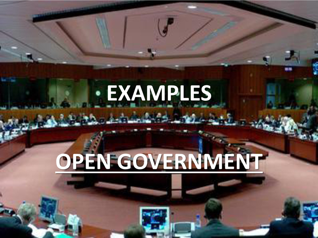 EXAMPLES OPEN GOVERNMENT