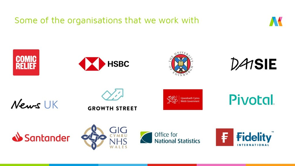 Some of the organisations that we work with