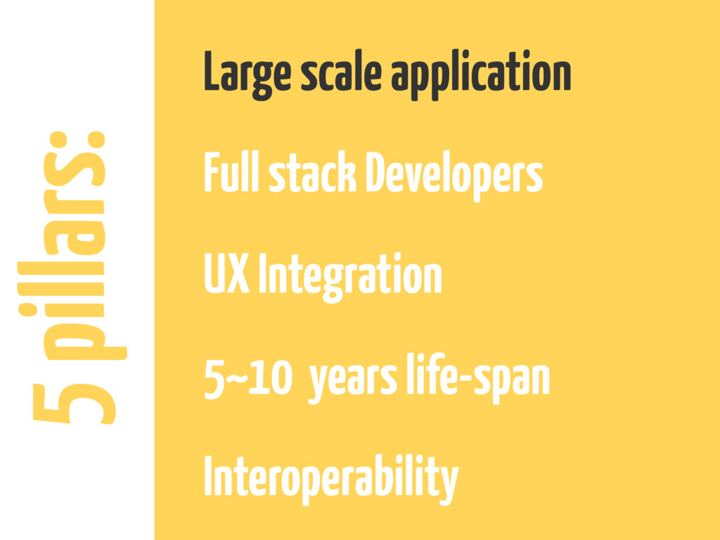 5 pillars: Large scale application Full stack D...
