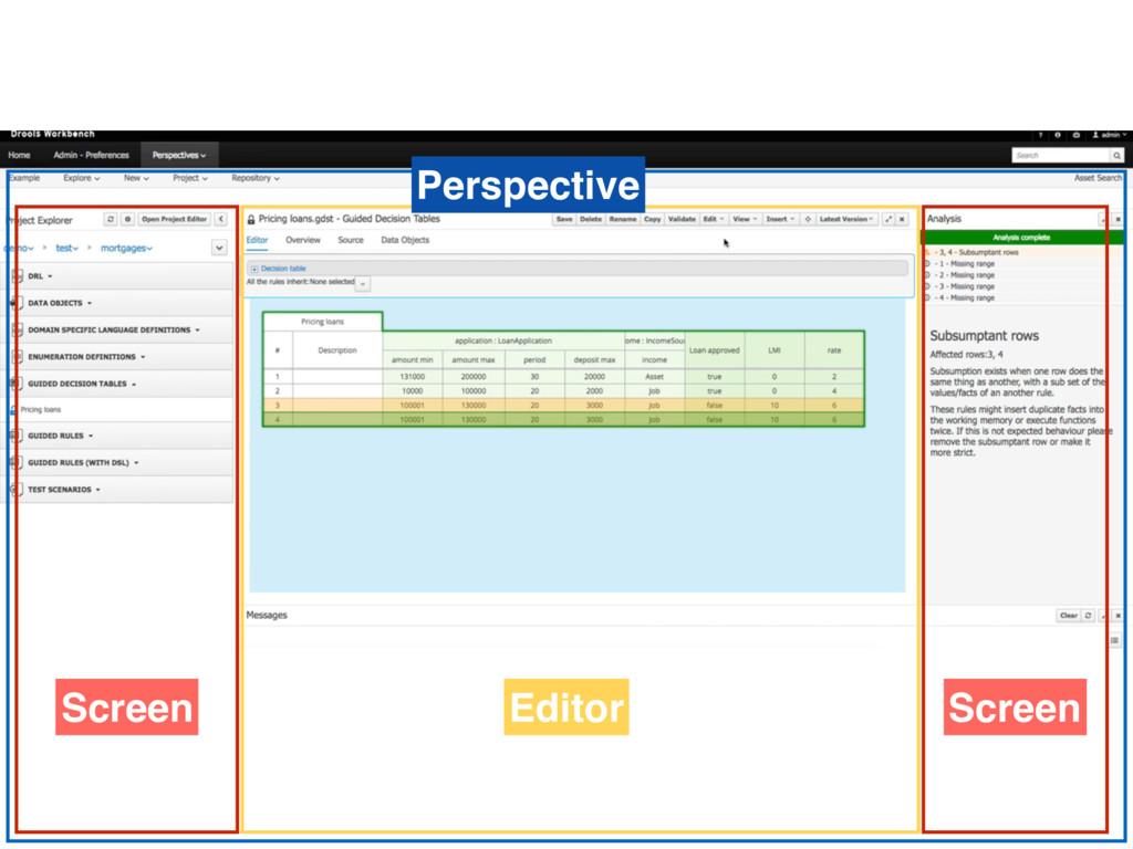 Perspective Editor Screen Screen