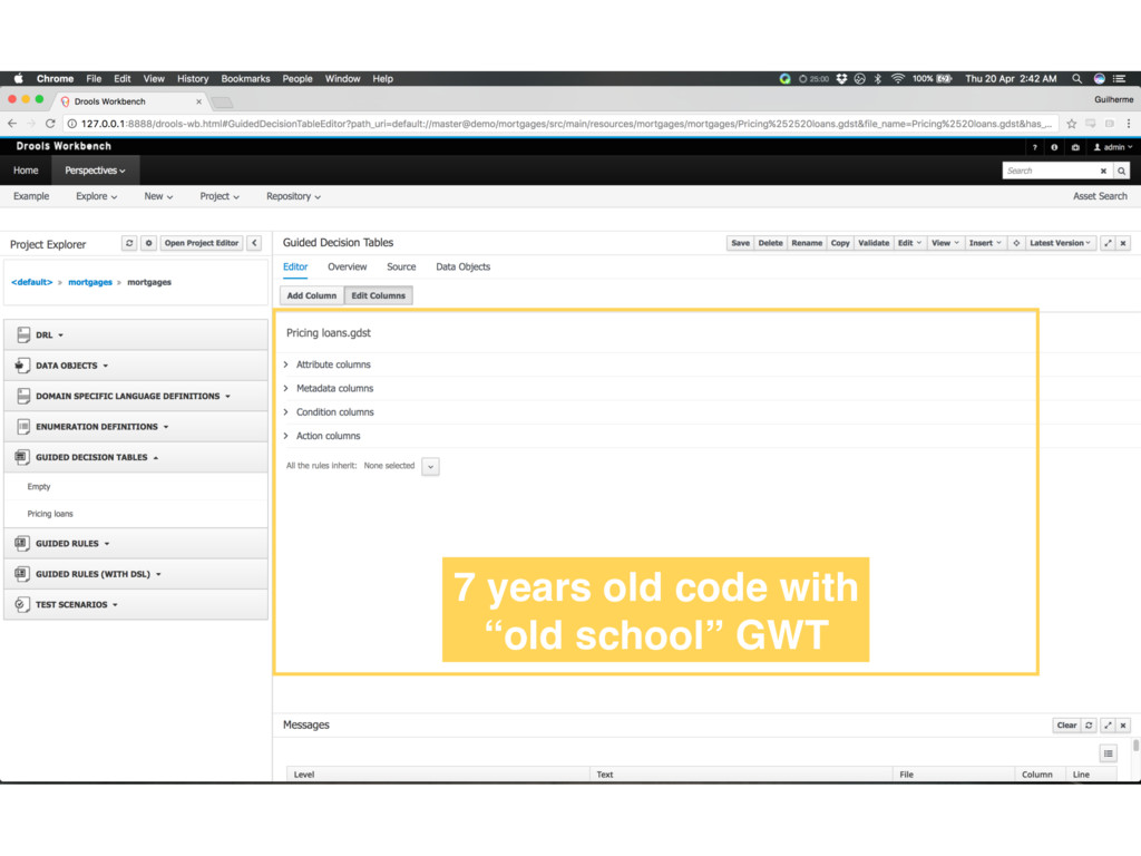 """7 years old code with """"old school"""" GWT"""
