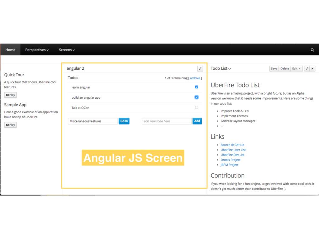 Angular JS Screen