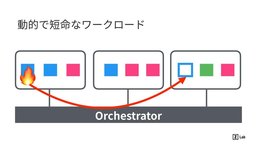 動的で短命なワークロード  Orchestrator