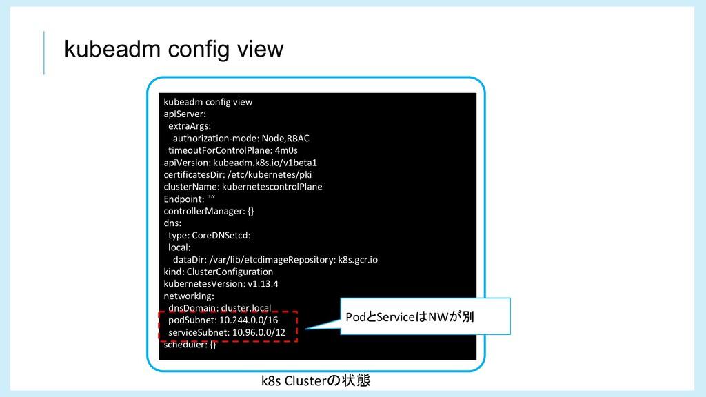 kubeadm config view kubeadm config view apiServ...
