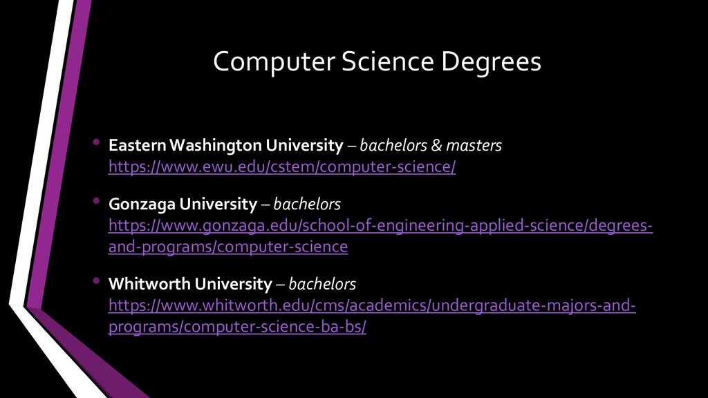 Computer Science Degrees • Eastern Washington U...