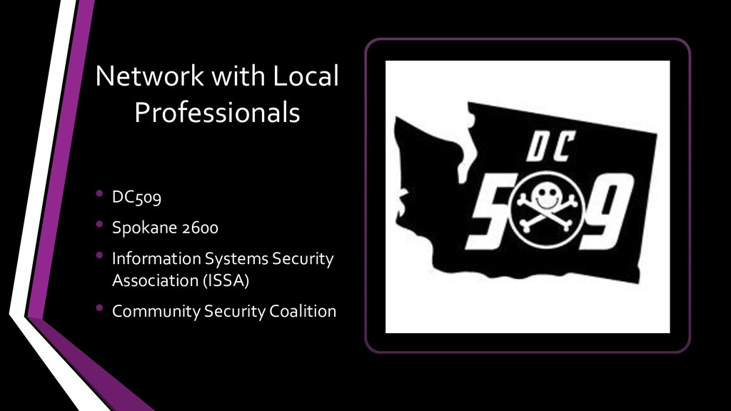 Network with Local Professionals • DC509 • Spok...
