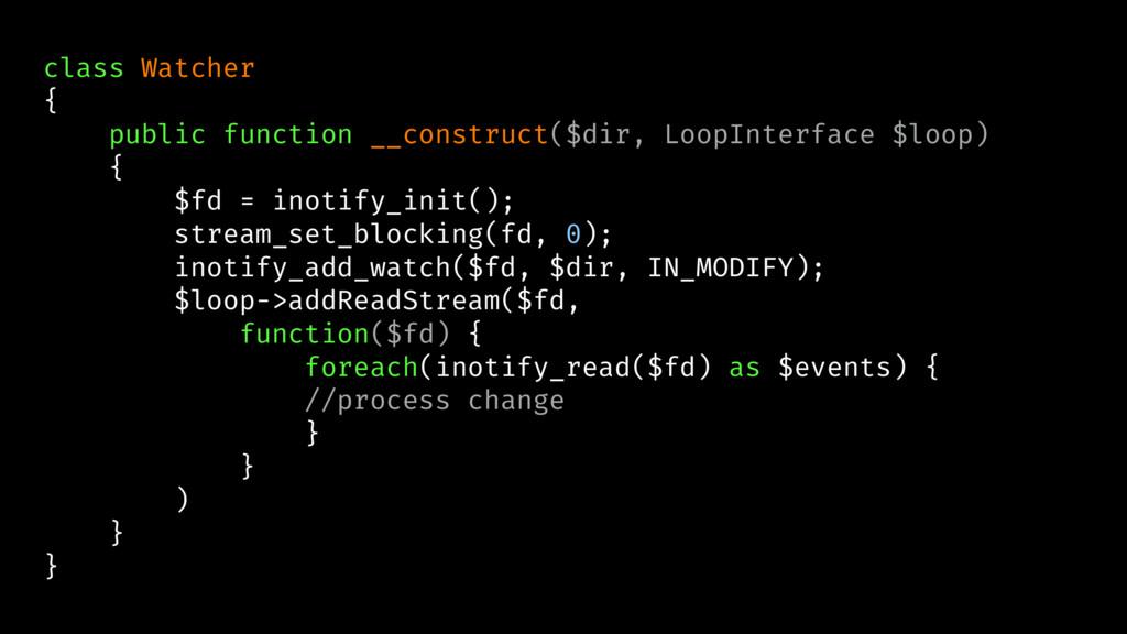 class Watcher { public function __construct($di...