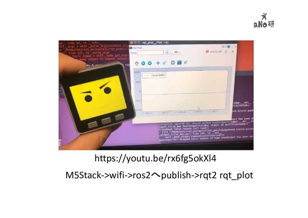 M5Stack->wifi->ros2へpublish->rqt2 rqt_plot http...